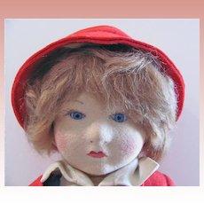 Chad Valley Bambino, 14-Inch Doll, All Original, Circa 1920s