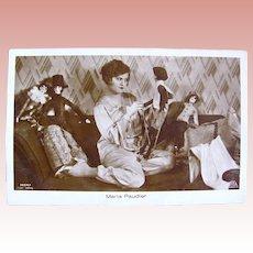 German Real Photo Postcard, Maria Paudler and Boudoir Dolls, Circa 1920s
