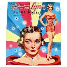 Diana Lynn Paper Dolls Saalfield Vintage 1953 Uncut and Complete