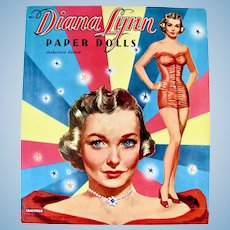 Diana Lynn Paper Dolls Saalfield Vintage 1953 Uncut and Complete