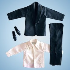 Tuxedo Outfit, Fits 12-1/2 Inch Boy Dolls, Hong Kong, Vintage 1960s