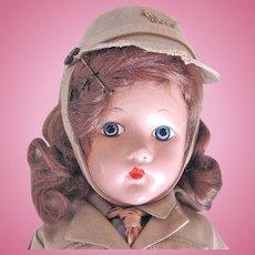 Effanbee Suzanne W.A.A.C. Doll, All-Original 14-Inch Composition, Circa 1942
