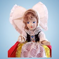 Belgian Costume Doll, Composition, Circa 1930s