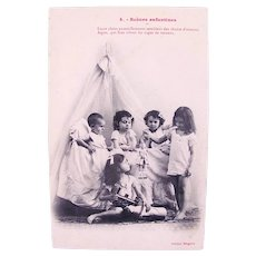French Real Photo Postcard, Scenes of Childhood #4, Circa 1910s