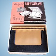 Vintage Volupte Minaudiere with Black Carry Case In Original Box, Circa 1950s