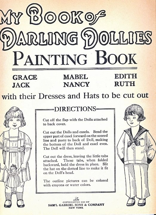 My Book Of Darling Dollies Paper Dolls, Complete and Uncut, Sam\'l ...