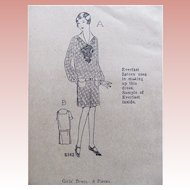 Girls' Dress Pattern, Ladies Home Journal 4816, Size 14, Factory Folded, Vintage 1920s