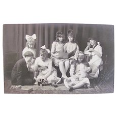 Real Photo Postcard, Children, Dolls and Toys,  St. Paul, Minnesota, Circa Early 1900s