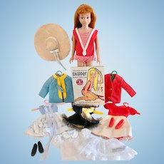 Titian Skipper Doll, Clothes, Shoes and Accessories, Mattel, Vintage 1960s