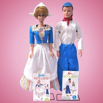 Barbie and Ken In Holland, Dolls, Outfits, Travel Pamphlets, Vintage 1964 Mattel