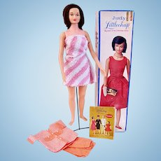 Remco Judy Littlechap Doll, Original Box, Stand, Extra Outfit, Vintage 1960's