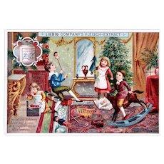 German Trade Card, Christmas Chaos, Liebig