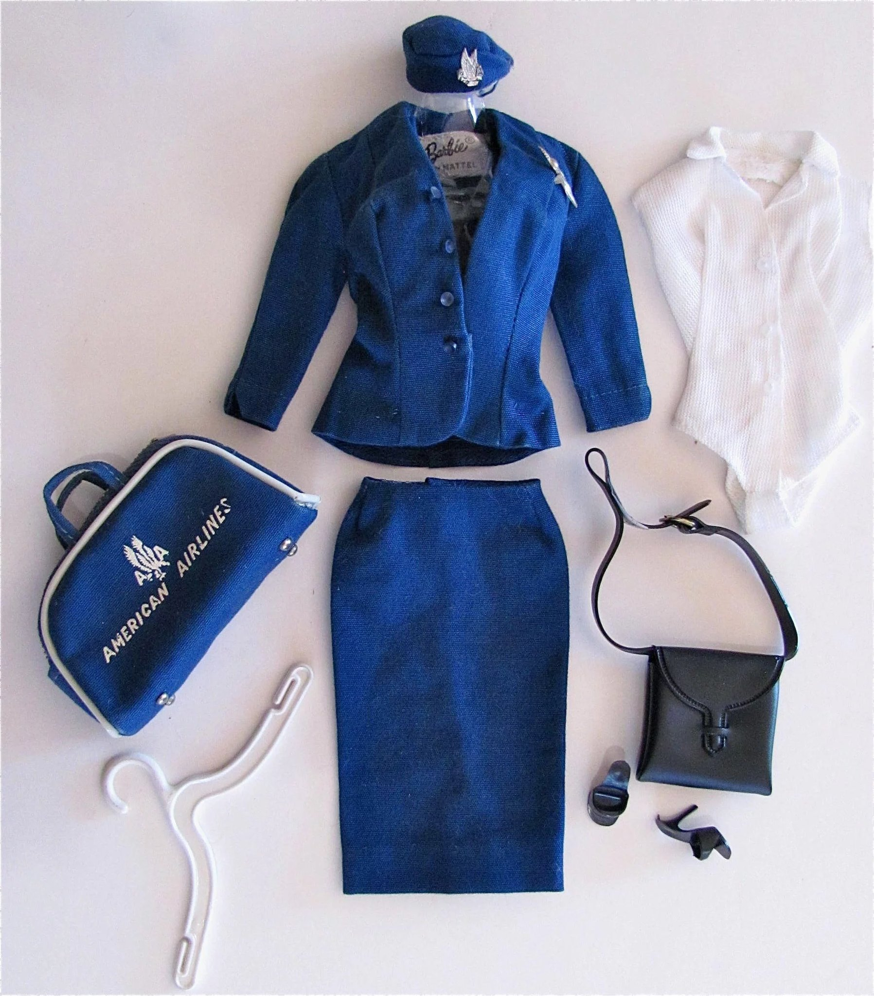 Barbie Fashion American Airlines Stewardess Complete 984