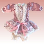 Rose Pink Dress and Bloomers for Slim Body Composition Doll, Vintage 1980s