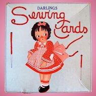 Darlings Sewing Cards in Original Box, Samuel Gabriel, Vintage 1920s