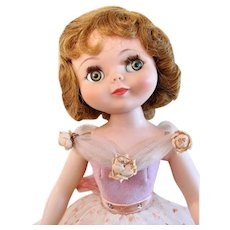 Vintage Betsy McCall 20-inch Doll Wearing Sugar and Spice, American Character Circa 1959
