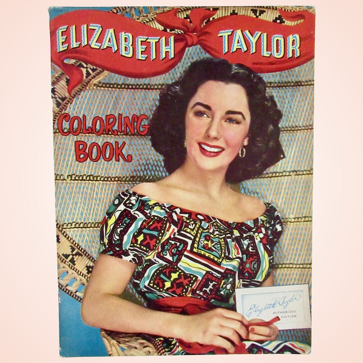 Whitman Elizabeth Taylor Coloring Book, Vintage 1950