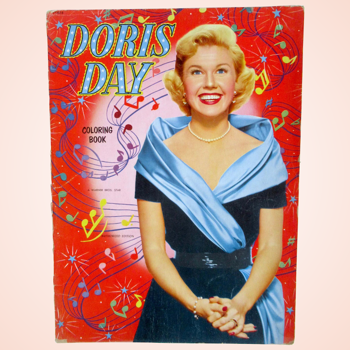 Whitman Doris Day Coloring Book, Vintage 1952