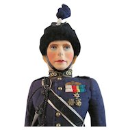 King George VI Doll In Royal Air Force Uniform, Farnell Alpha Toys, Circa 1930s