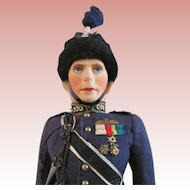 King George VI Doll In Royal Air Force Uniform, Farnell Alpha Toys, Circa 1930s
