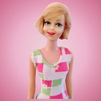 Blonde Casey Doll In Francie Swim Suit, Mattel, Vintage 1967