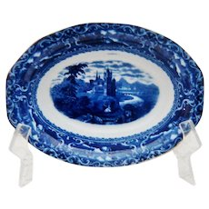 Doulton Flow Blue Watteau Bowl