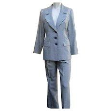 Vintage YSL Suit Classic St. Laurent Wool Silk Pants Jacket