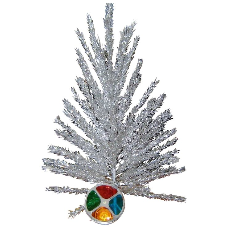 vintage aluminum christmas tree and color wheel original boxes - Christmas Tree To Color