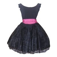Vintage Black Betsey Johnson Party Dress Punk Label
