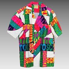 Vintage Hawaiian Shirt Ui Maikai Schlitz Beer Psychedelic Neon Colors
