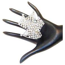 Vintage Mimi Di N Brooch Diamante Rhinestone Book Piece