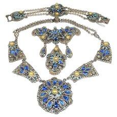 1940s Korda Necklace Bracelet Brooch Thief of Bagdad Set Rice Weiner