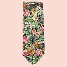 Vintage Liberty of London Style Tie Floral Cotton Print 1970s