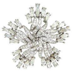 Vintage Trifari Brooch Diamante Rhinestones Ad Pin
