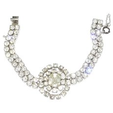Vintage Kramer Sterling Diamante Rhinestone Bracelet