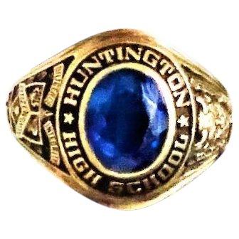 Vintage 10K Balfour Ring Huntington H S 1968