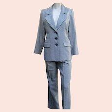 Vintage YSL Suit Classic St. Laurent Rive Gauche Wool Silk Pants Jacket