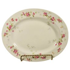 Antique  Bernardaud French Limoges Platter Pink Roses Vines