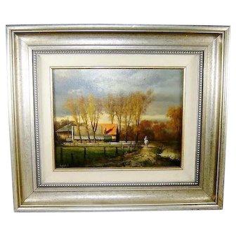 Andre Balyon October Sunlight Painting Landscape Barn Horse Farm