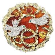 Vintage Vendome Georges Braque Brooch Lovebirds Book Piece