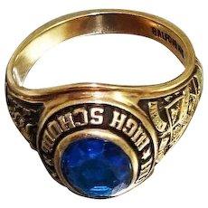 Vintage Balfour 10K Gold Class Ring