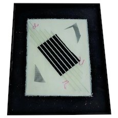 Contemporary Mixed Media Collage Framed