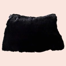 Vintage Black Fur Muff Hand Warmer