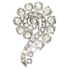 Vintage Coro Question Mark Rhinestone Fur Clip 1940s Ad