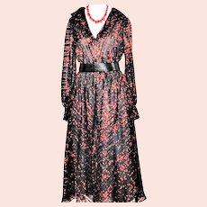 Vintage 1970s Jerry Silverman Dress