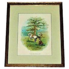 1903 Framed Horse Print Black Beauty Anna Sewell
