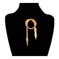 Vintage Snake Brooch Gold Plated