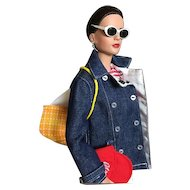 Tonner Classic American Sport Ensemble with White Capris, Denim Car Coat and Matching Espadrilles