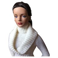 Toasty Winter White Sweater Set for Tyler Wentworth or Other 16-inch Tonner Fashion Doll