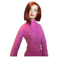 Stylish Shocking Pink Passion Faux Suede Jacket and Skirt for Tonner Fashion Doll